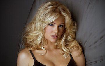 girl, blonde, portrait, look, model, face, actress, kate upton