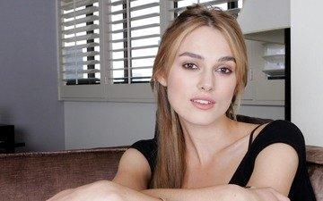 girl, look, hair, face, actress, keira knightley