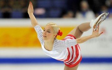 girl, blonde, sport, skates, figure skating, skater, kiira korpi, kira lint