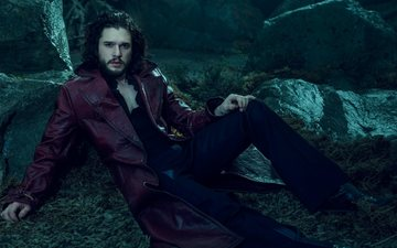 look, actor, face, photoshoot, kit harington, luomo vogue