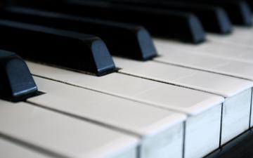 макро, музыка, пианино, клавиши