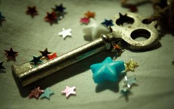 звезды, ключ, звездочки, ключик