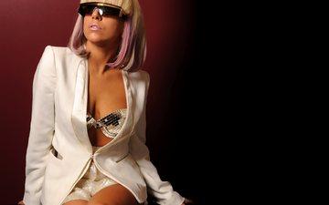 девушка, актриса, певица, солнечные очки, леди гага, автор песен, дизайнер