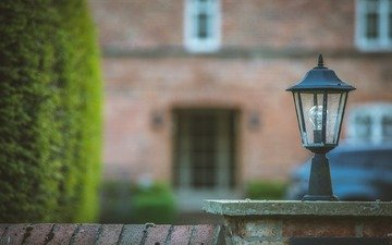 lamp, house, lantern, architecture