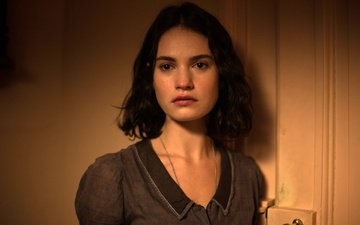 girl, look, hair, face, actress, movies, lily james, the exception
