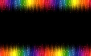 line, rainbow, black background