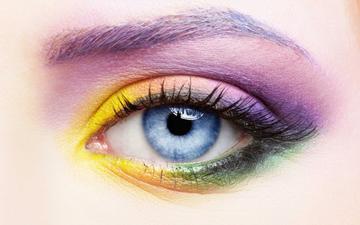 глаза, девушка, лицо, глаз, макияж, тени, ресницы