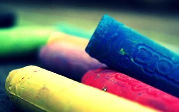 macro, colorful, colored, drawing, crayons