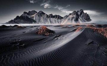 горы, исландия, vestrahorn islande