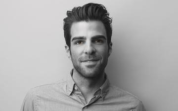 smile, look, black and white, actor, face, zachary quinto