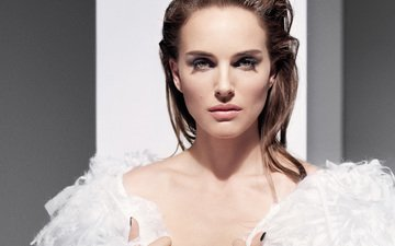 girl, portrait, look, model, hair, face, actress, natalie portman
