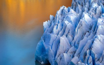 nature, sea, ice, glacier