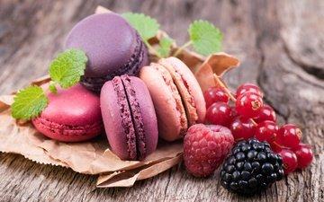 raspberry, berries, blackberry, currants, macaroon