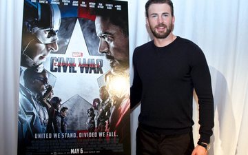 look, actor, poster, beard, chris evans, press conference