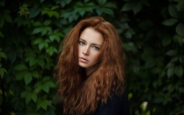 eyes, girl, portrait, red, model, face, freckles, photoshoot, long hair, anna, ivan warhammer