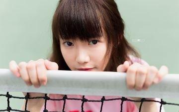 girl, look, mesh, hair, face, asian