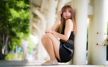girl, look, model, hair, face, asian