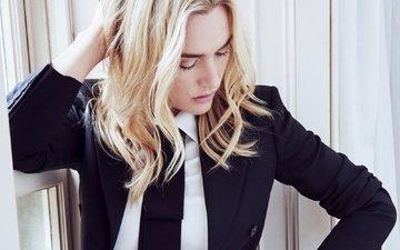 girl, blonde, portrait, look, face, actress, celebrity, kate winslet