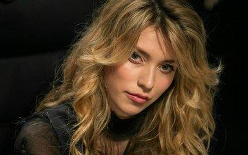 блондинка, взгляд, волосы, актриса, певица, макияж, телеведущая, крупно