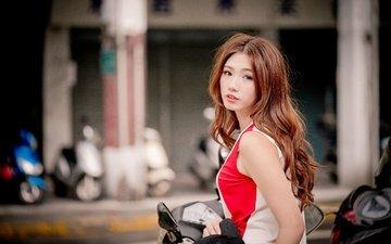 girl, look, model, hair, face, asian, luke luo