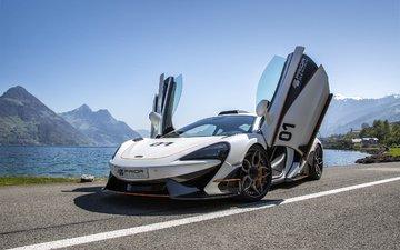 road, mountains, car, supercar, mclaren