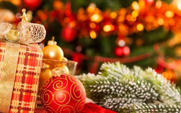 new year, tree, gifts, toys, christmas, christmas decorations
