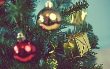 das neue jahr, weihnachtsbaum, weihnachten, weihnachtsschmuck