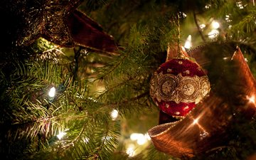 new year, tree, toys, christmas, christmas decorations
