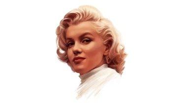 девушка, взгляд, модель, волосы, лицо, актриса, певица, мерлин монро
