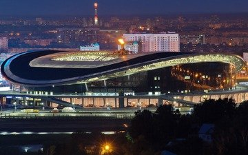night, the city, kazan, arena, tatarstan