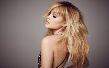 background, dress, blonde, actress, singer, makeup, hairstyle, celebrity, the website, mane addicts, olivia holt, mike rosenthal