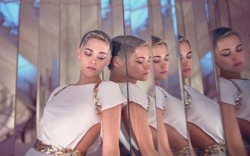 отражение, платье, взгляд, кристен стюарт, зеркало, губы, актриса, стрижка, tom craig