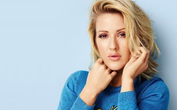 girl, look, hair, face, singer, composer, ellie goulding, music, elena jane goulding