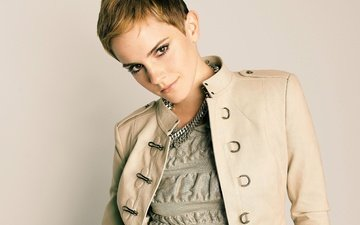 portrait, actress, emma watson, celebrity, short hair