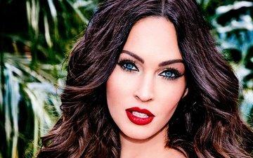 девушка, портрет, взгляд, меган фокс, волосы, лицо, актриса, макияж, знаменитость