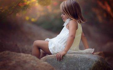 природа, камни, платье, девочка, ребенок, валуны, julia altork