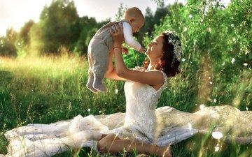природа, платье, лето, ткань, ребенок, мама, малыш, женщина, тюль, мать, материнство, ivan tsarev