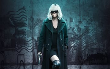 girl, look, hair, face, actress, charlize theron, thriller, action, movies, 2017, explosive blonde, atomic blonde