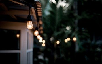light, house, light bulb, lamp