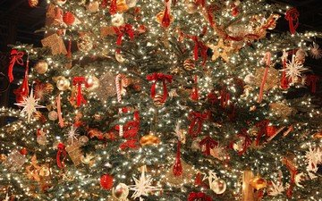 новый год, елка, украшения, рождество, елочные игрушки