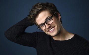 smile, glasses, actor, daniel sharman