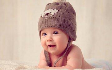 smile, children, child, hat, baby