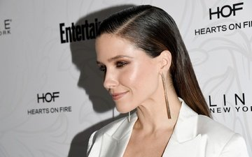 girl, smile, look, profile, hair, face, actress, makeup, sophia bush