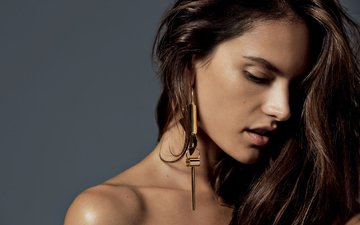 girl, model, hair, face, alessandra ambrosio, photoshoot, harper's bazaar, simon upton
