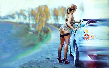 girl, auto