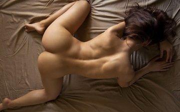 девушка, поза, попа, голая