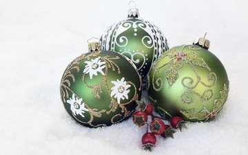 new year, balls, berries, christmas, christmas toys