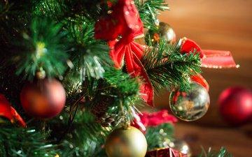 новый год, рождество, новогодние украшения, новогодняя елка