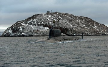 вода, море, лодка, проект, неба, подводная, подводная лодка, project, атомная, широкие, видим, ядерный, ницца, легкие, ясень, 955