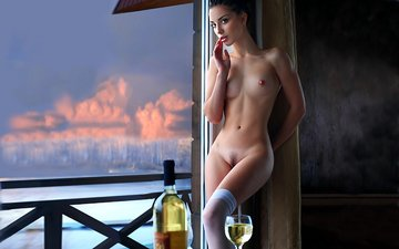 girl, window, nude, is